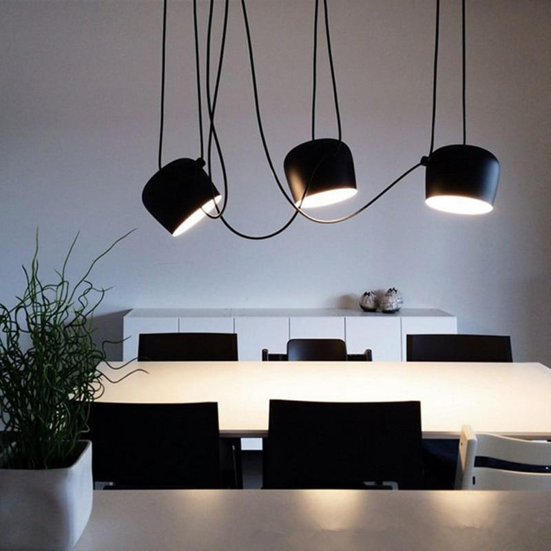 2017 New Modern Nordic Dining Room Drum Shape Pendant Light E27 Bed Lights Aluminum Cafe / Studio / Designer Light Free Shipping
