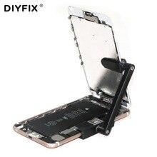 DIYFIX ajustable teléfono móvil LCD soporte de pantalla de plástico abrazadera Clip de fijación para iPhone 6 6 s 6 Plus 6 s más herramientas de reparación