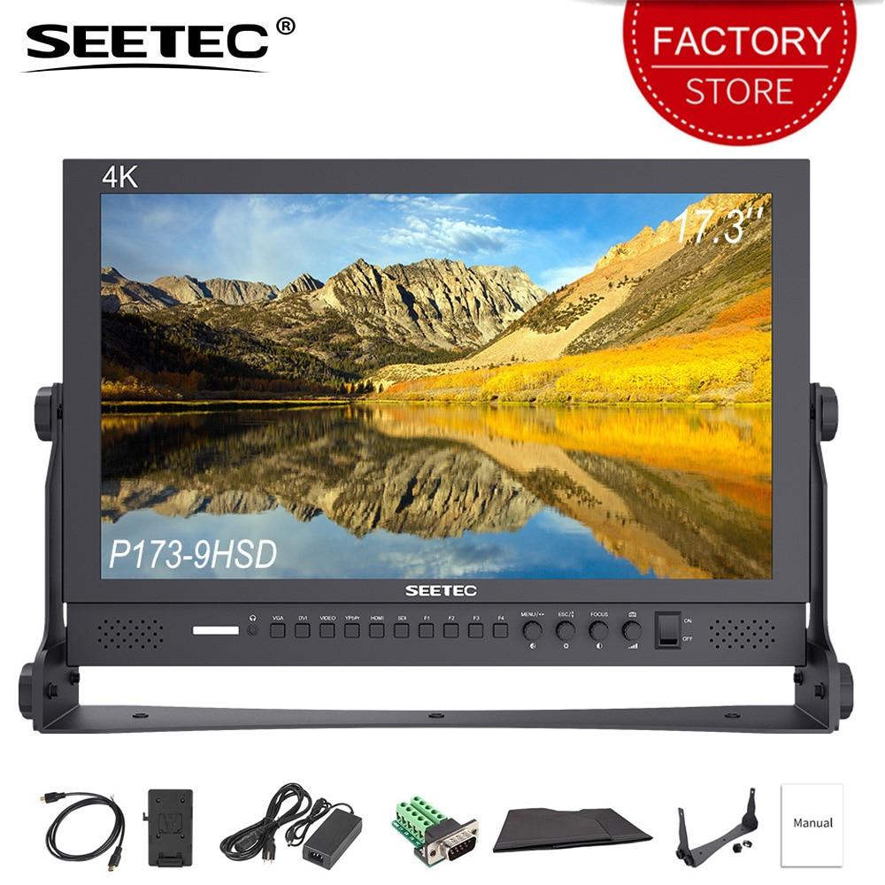 SEETEC P173-9HSD 17.3 بوصة برو بث رصد 4 K HD 1920x1080 الألومنيوم تصميم LCD شاشة كمبيوتر سطح المكتب مع 3G SDI HDMI AV يبببر