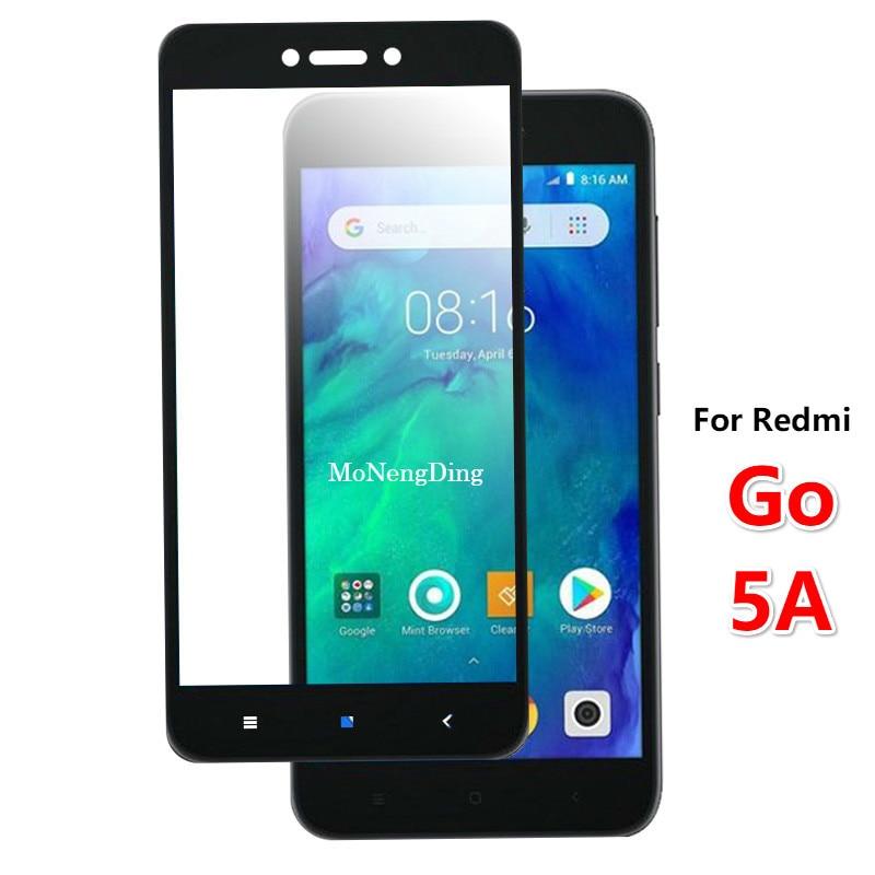 Protector de pantalla completa de vidrio templado para Xiaomi Redmi Go Film Protector de pantalla para Xiomi Redmi 5A 5,0 pulgadas vidrio 3D 9H seguridad