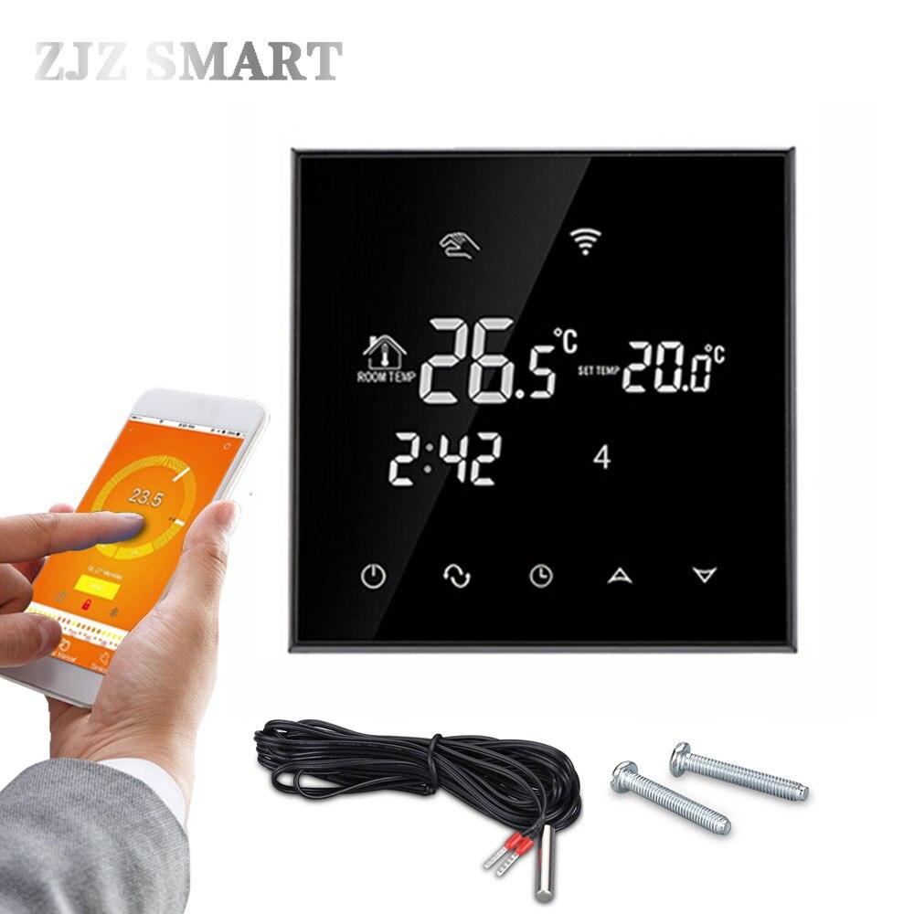 Termostato de pantalla táctil WiFi controlador de temperatura para calefacción eléctrica/de suelo de agua/caldera de Gas funciona semanalmente programable