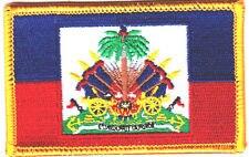 Parches baratos Bandera de alta calidad parche para coser Jeans chaqueta motociclista de carreras Gran oferta Parches de bandera de Haití
