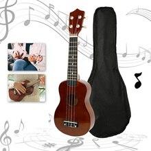 21 pouces ukulélé Burlywood brun Hawaii basse à cordes Instrument de musique guitare Sapele 4 cordes hawaïen printemps plage vacances