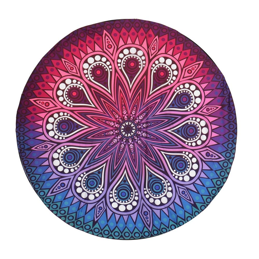 Mantel impreso Toalla de playa ronda Hippie tapiz playa tiro redondo Mandala toalla Yoga Mat