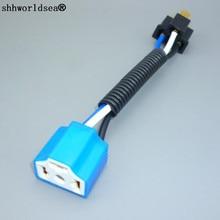 shhworldsea 1/2/5/10/100pcs h4 9003 hb2 headlight wire connector adapter conversion cable socket