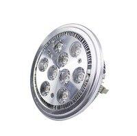 Free shipping 24pcs/lot 9W AR111 12V led spot light warm white /white epistar high power led residental lighting RoHS CE