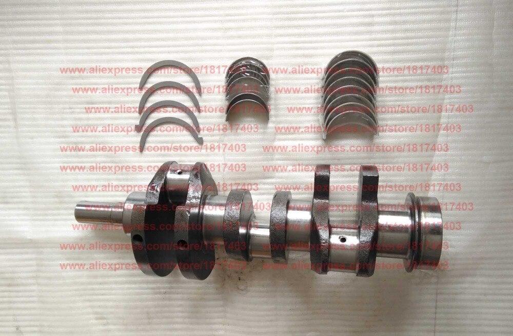 TY395I.4.2-4 Crankshaft (b type), Main bearing TY295I.2-5, JD490.4.1-6, TY495.2-25, Jiangdong engine pars, TY395IT, TY3100IT
