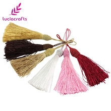 Lucia handwerk 2 teile/los 15cm Multi Farben Option Festliche Quaste DIY Bekleidungs Tasche Anhänger Materialien Zubehör I0107