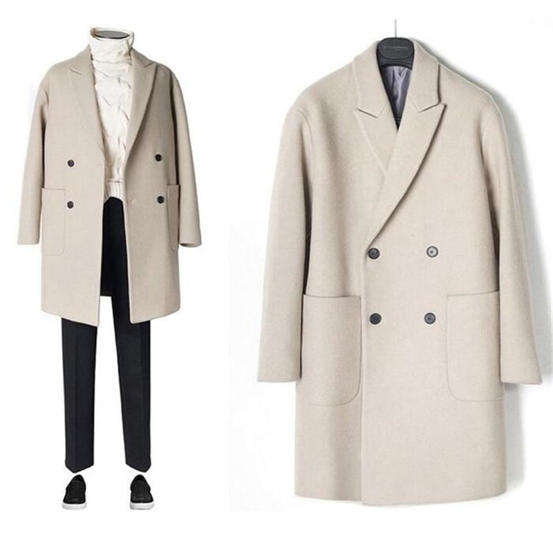 Новинка 2020, Мужская ветровка, Мужской плащ, мужское пальто, повседневная куртка, модная брендовая одежда, мужской шерстяной Тренч, длинное п...