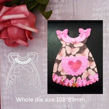108*89mm Butterfly Baby dress new Metal Cutting Dies for decor card DIY Scrapbooking stencil Paper C