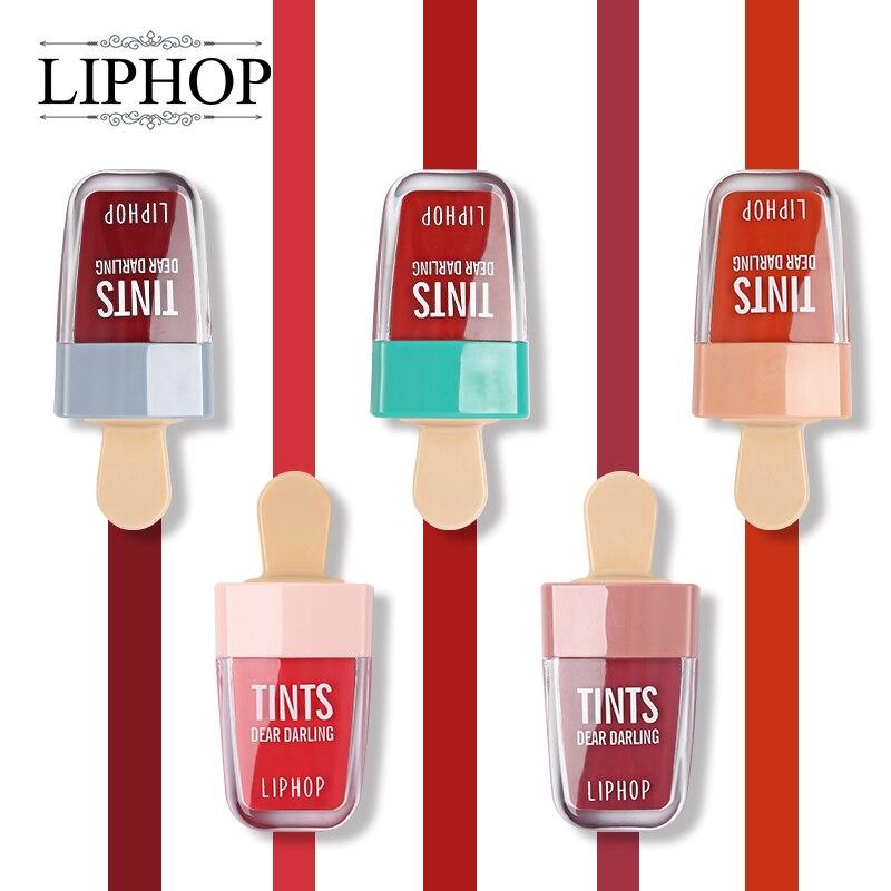 Liphop 5 Farbe Liebe Liebling Tattoo Lip Gloss Wasserdicht Flüssigen Lippenstift Make-Up Sheer Feuchtigkeitsspendende Anhaltende Natürliche Charming Lippen