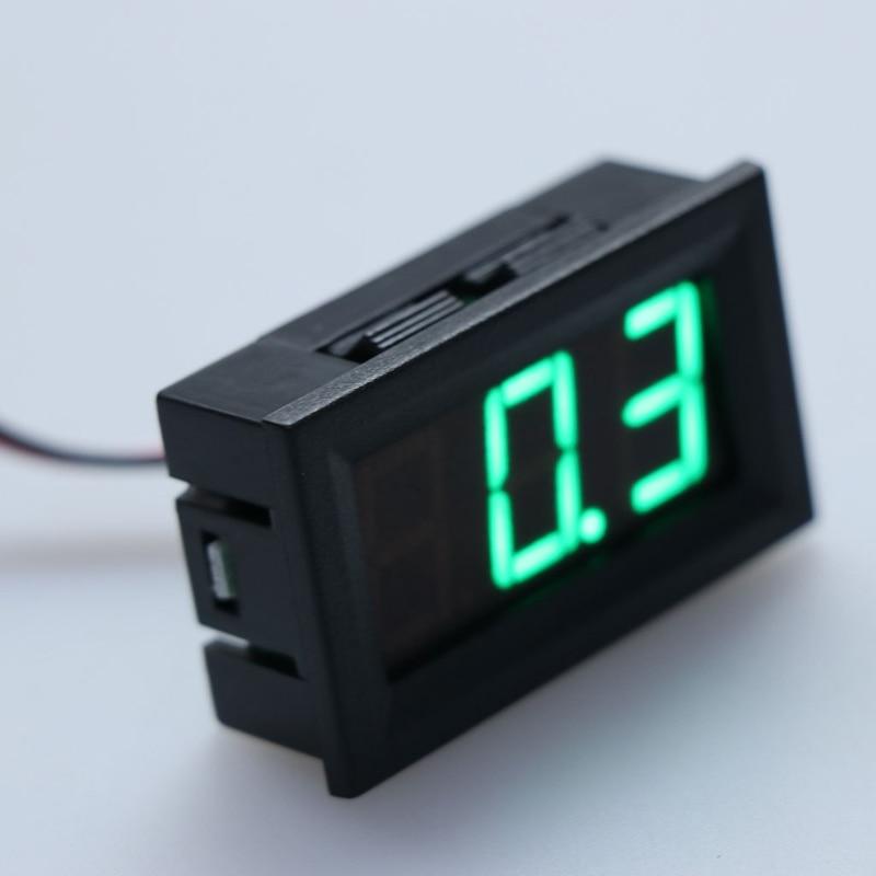 Dc 0-100 v voltímetro de 3 fios led 0.56in digital tensão medidor painel monitor tester lilirunzu