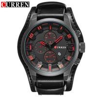 CURREN Luxury Brand Analog sports Men Watches Fashion Creative Quartz Leather Strap Wristwatch Date Male Clock Reloj Hombre