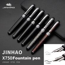 Jinhao X750 stylo plume moyen stylo à encre de luxe de haute qualité 0.5mm Pluma Fuente caligraphie stylo Penna Stilografica Pennino