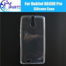 Oukitel K6000 Pro Abdeckung 100% Offizielle Original Anti-Klopfen Stoßfest Protector Soft TPU Silikon Fall Zurück Abdeckung für K6000 pro