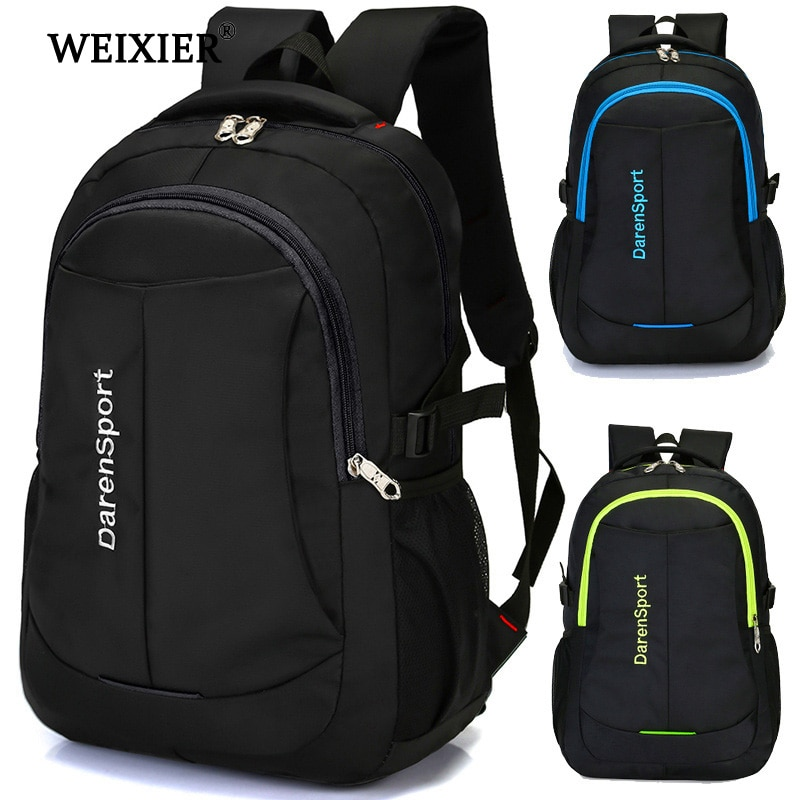 WEIXIER  Hot Travel Nylon Multi-Function Bag Fashion Zipper Open Backpack Laptop High Quality Designer Male Classic