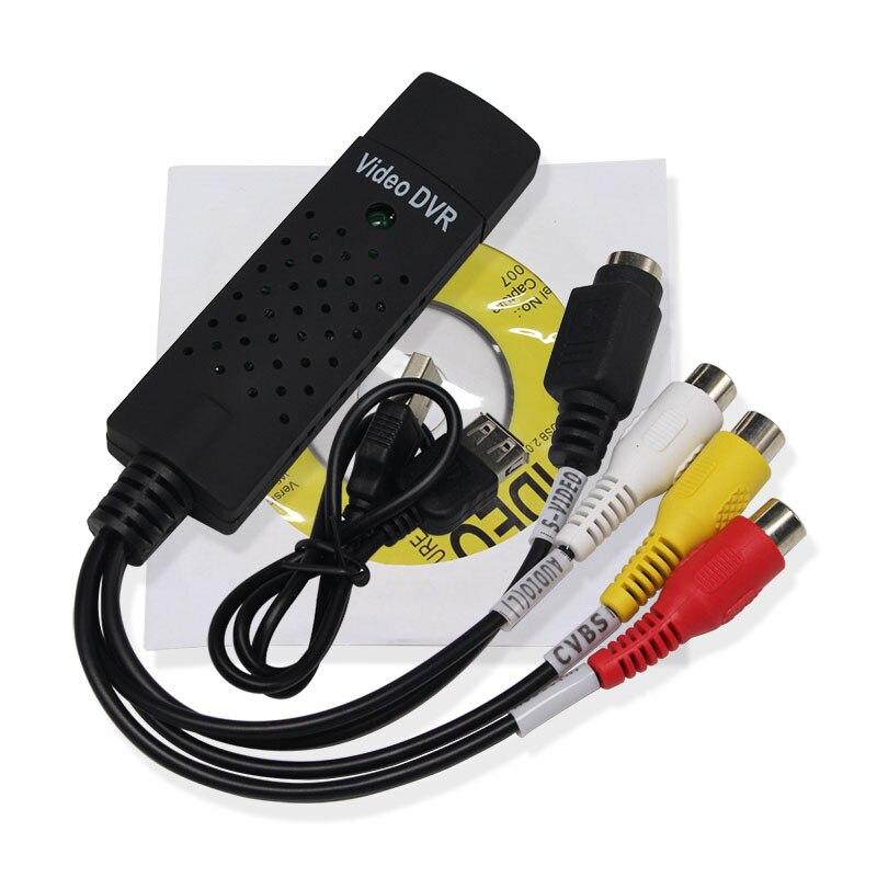 5 uds nuevo USB portátil 2,0 Easycap Tarjeta de captura de Audio y vídeo VHS adaptador a la captura de vídeo DVD para Win10/XP/2000