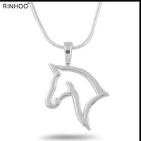 Horse Jewelry Horse Necklace Cute Animal Retro Personality Hollow Horse Jewelry For Women Men Horse Pendant Unicorn Necklaces