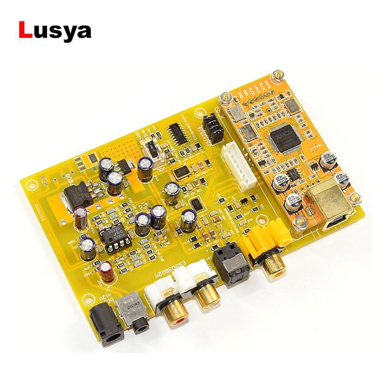 Triple Switch DAC Decoder Board ES9038 Q2M DC 12V Support Fiber Coaxial USB Input HiFi Audio Amplifier Board