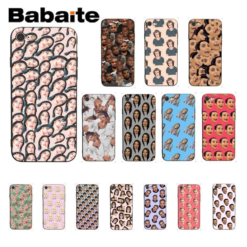 Babaite Kimoji Kim Kardashian kanye west Norte cubierta del teléfono para iPhone6S 6plus 7 7plus 8 8Plus X Xs X MAX 5 5S XR 11 11pro 11promax