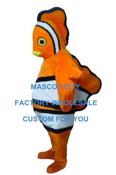 سمكة المهرج زي التميمة رائجة البيع الكبار حجم Mascotte الزي دعوى فستان بتصميم حالم لعيد الميلاد حفلة عيد SW679