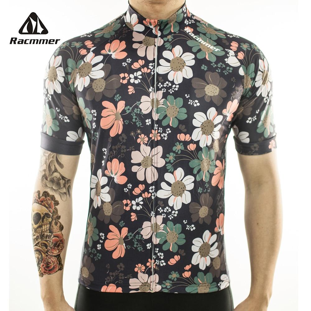 Racmmer-Camiseta de Ciclismo profesional, transpirable, verano, Mtb, Ropa de bicicleta corto, Maillot,...