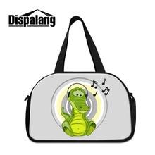 Dispalang Crocodile imprimer hommes sacs de voyage animaux de bande dessinée femmes multi-usages voyage bagages sac multifonction sac à bandoulière