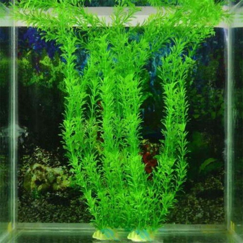 New 37CM artificial underwater plants aquarium fish tank decoration green purple water grass viewing decorations