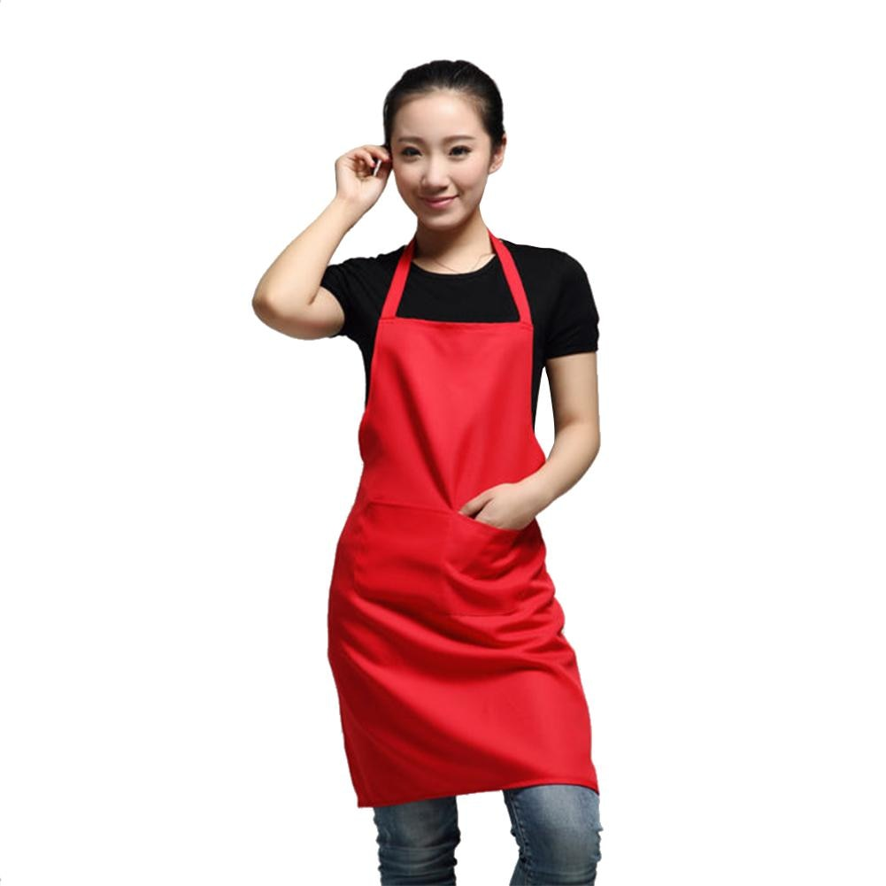 WITUSE Women Apron With Pockets Kitchen Restaurant Cooking Shop Art Work Apron Korean Waiter Aprons`