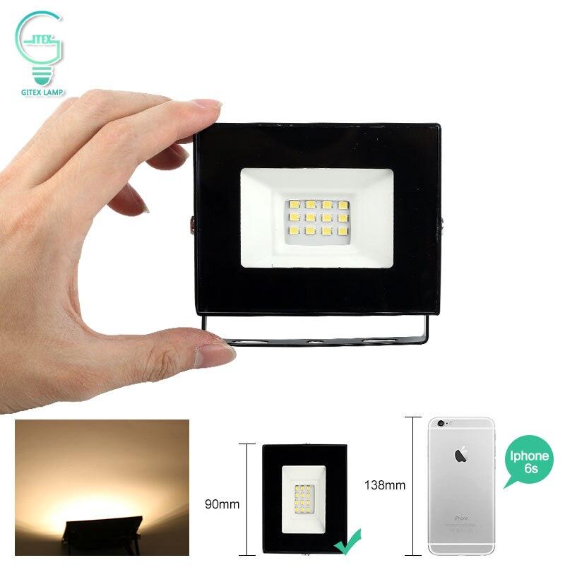 10W Mini LED Luz de inundación 220V 240V IP65 impermeable LED Reflector al aire libre Reflector blanco frío blanco cálido LED iluminación