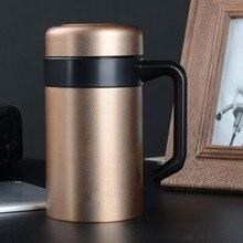 Tasse Thermos De bureau avec poignée   Tasses à café en acier inoxydable, bouteille deau, tasses isolées sous vide, Botella De Agua Garrafa Termica