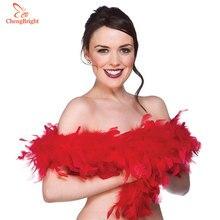ChengBright хороший 2 ярдов/партия красный натуральный турецкие перья боа костюмы/отделка для вечеринки/костюм/шаль/ремесло Турция Плюм Косплей
