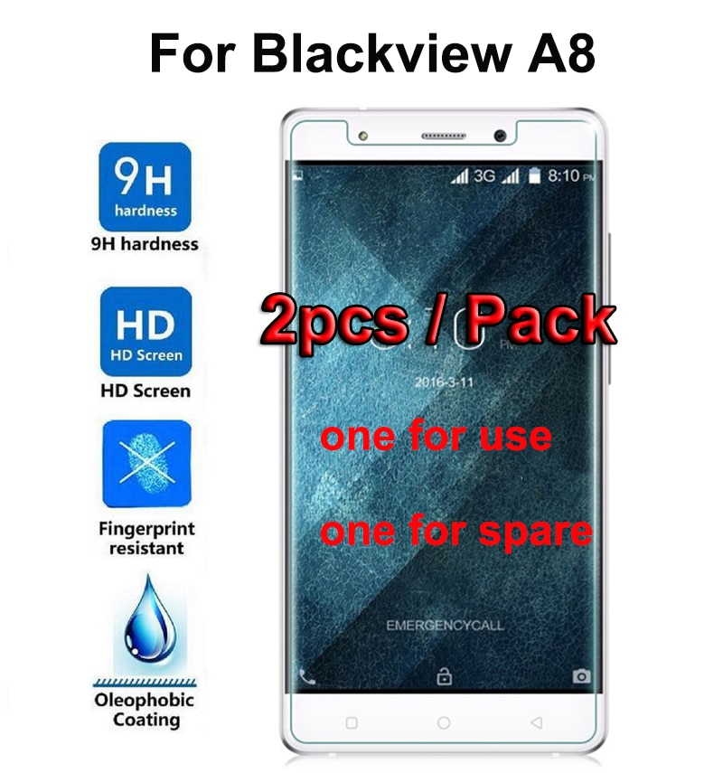 2PC Blackview A8 Screen Protector 9H Protective Glass Film Explosion Proof Screen Protector For Blac