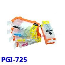 PGI725 Refill ink Cartridge For Canon iP4870 ip4970 MG5170 MG5270 MG5370 MG6170 MG6270 MG8170 MG8270 iX6560 MX886 MX897 printer