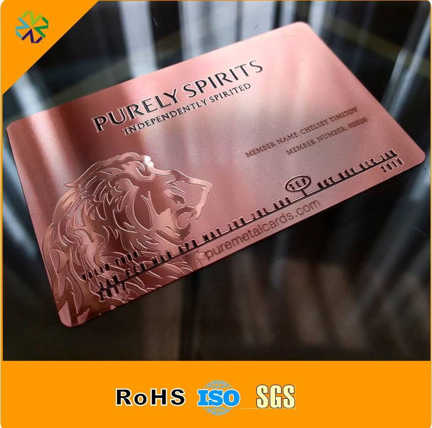 Изготовление индивидуальной печати из нержавеющей стали металлические визитные карточки
