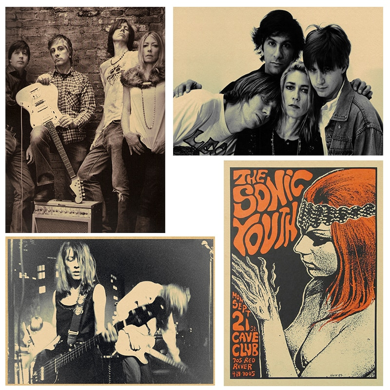 Sonic Youth, панк-рок, украшение для дома, крафт-кислота, рок музыка, Постер, рисунок, основные настенные наклейки 30*20 см