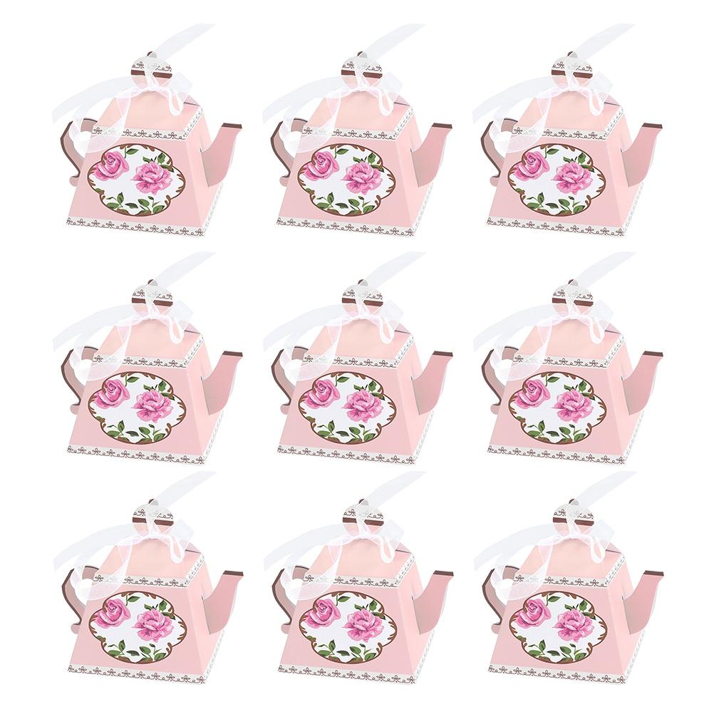 Boîtes à bonbons théière royale pâtisserie   100 pièces, théière royale thé fête de noël Festival de mariage, porte-cadeau, boîtes conteneurs