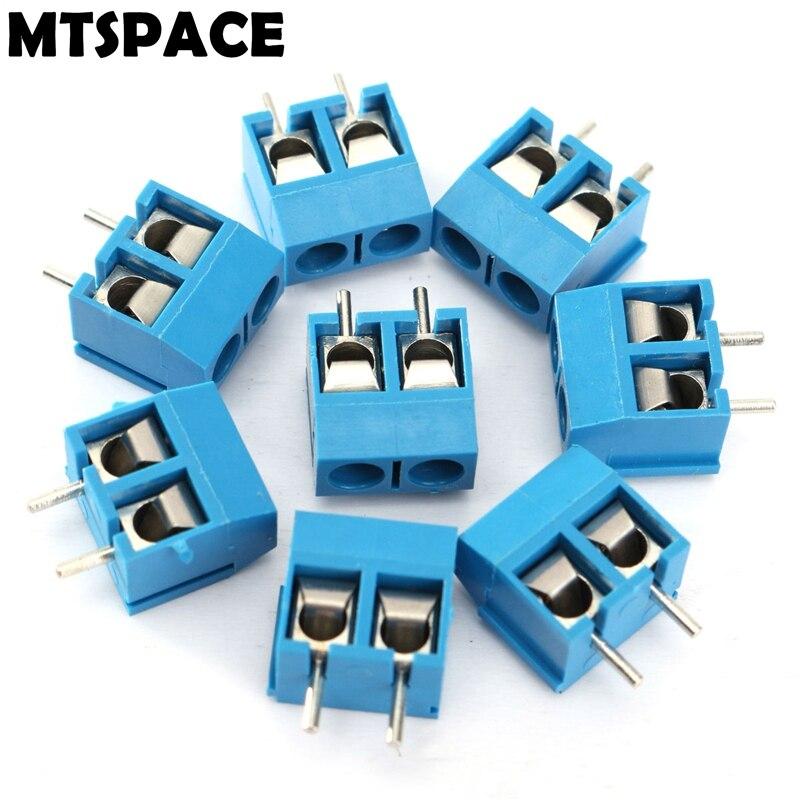 MTSPACE 20 шт./компл. 2-контактный разъем для винтовой клеммной колодки, коннекторы 5,08 мм, клеммы, блоки 300 В/16 А