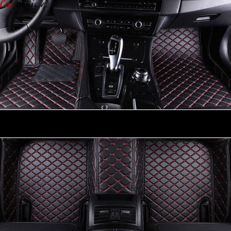 Alfombrilla de coche Believe para skoda fabia 1 karoq kodiaq accesorios fabia 3 superb 2 octavia a5 yeti alfombras revestimiento de suelo