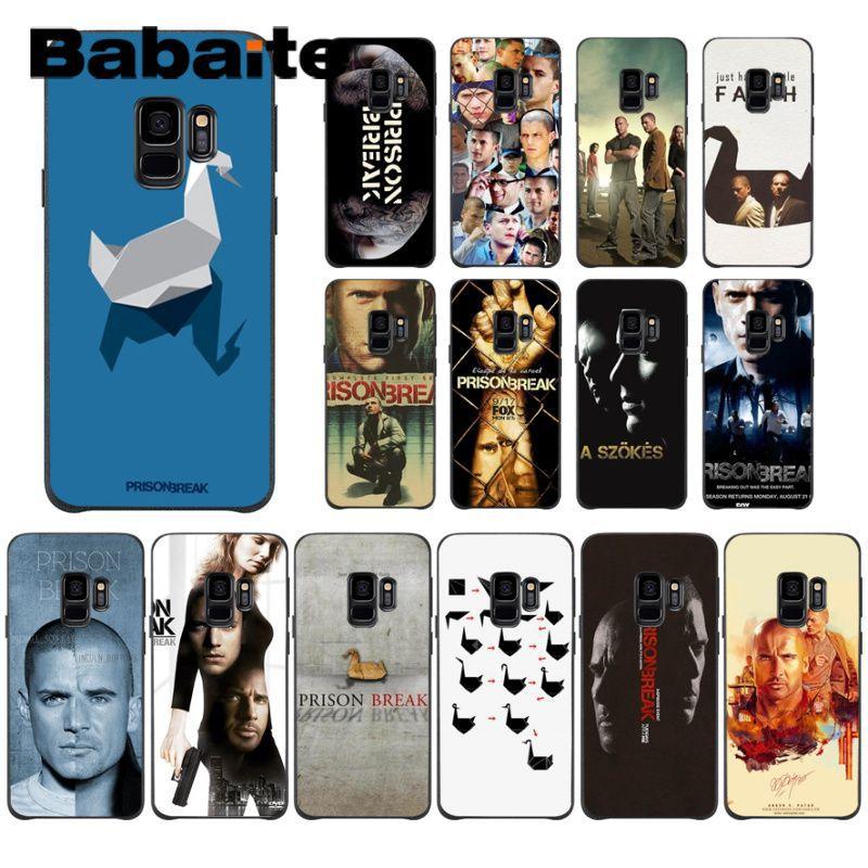 ¡Novedad! Funda Babaite Prison Break para Samsung Galaxy s10 s10plus s9 s8 plus s7 s6edge, funda