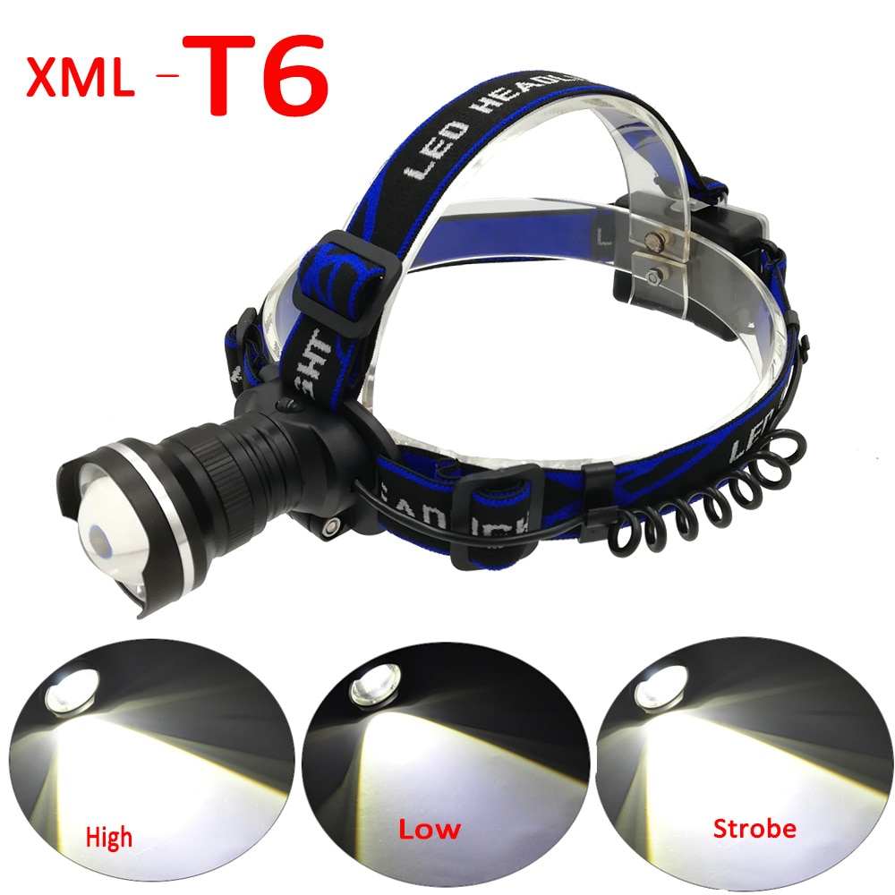 boruit rj 5000 xml t6 r2 headlight 4 mode headlamp power bank head torch hunting camping flashlight 18650 battery light 1000 Lumens XML T6 LED Headlamp 3 Mode Zoomable Headlight Front Flashlight Torch Lights For Camping Power by 3 x 1.5V AA Battery
