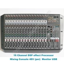 MICWL professionnel 16 canaux double groupe DJ karaoké Console de mixage Audio Microphone son Cousole table de mixage 48 V DSP 100-240 V