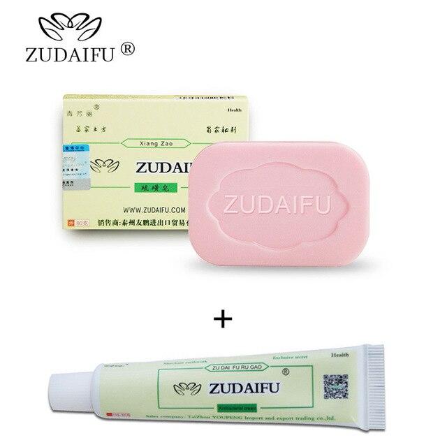 Zudaifu (Crème + Zeep) Huid Psoriasis Crème Dermatitis Eczematoid Eczeem Acne Zalf Behandeling Psoriasis Crème Huidverzorging Crème