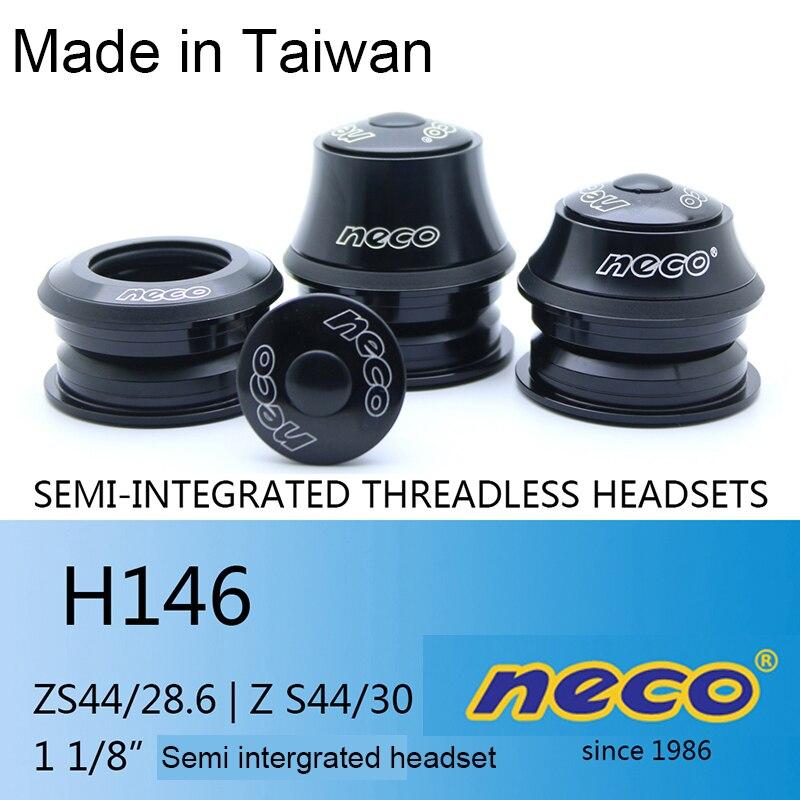 Neco bike Headset 44 44MM ZS44 28.6 30 1 1/8 Semi-Integrated Threadless H146 Retainers Fixed Gear Road Bike Headset MTB