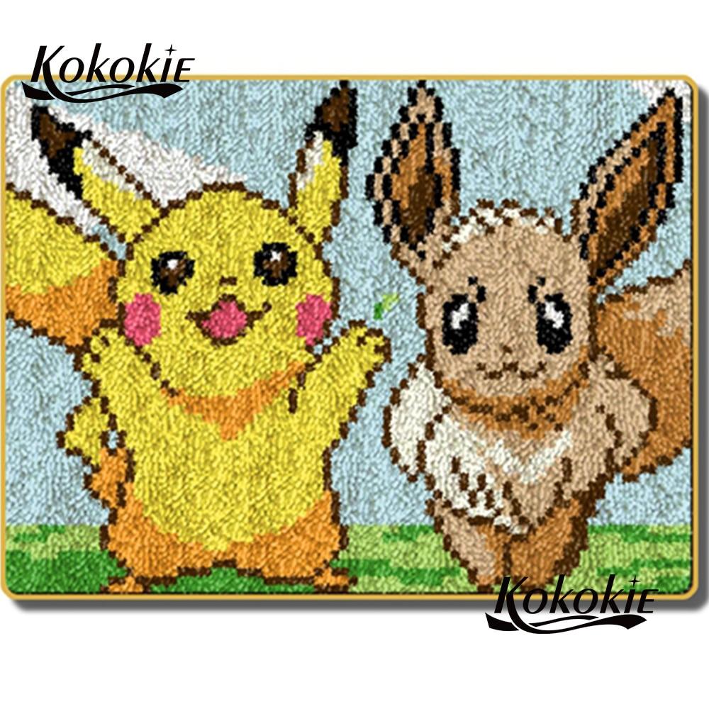 3d dos desenhos animados tapete impressão vloerklee tapijt foamiran para acessórios de costura kooppakket crochê tapis trava gancho diy tapete