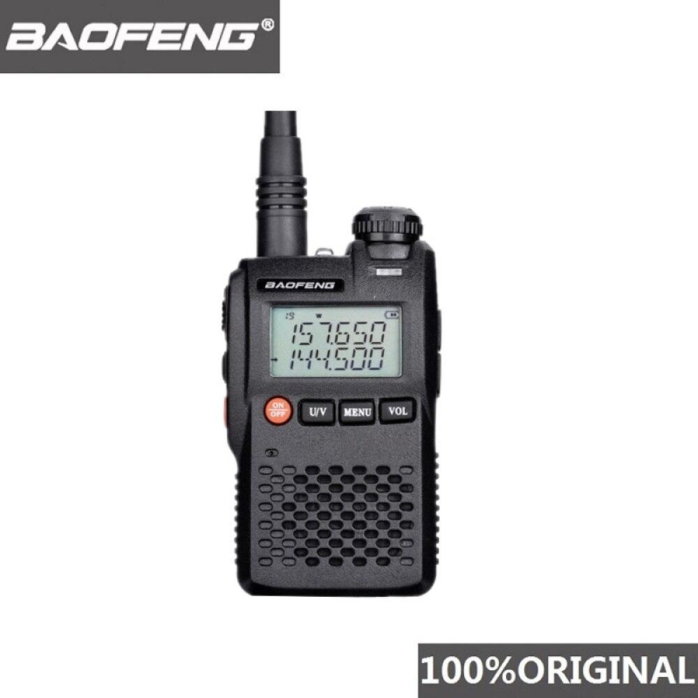 100% оригинальная портативная мини-рация Baofeng с двойным диапазоном VHF UHF, портативная UV3R, двухсторонняя радиосвязь, Любительский Hf трансивер UV ...