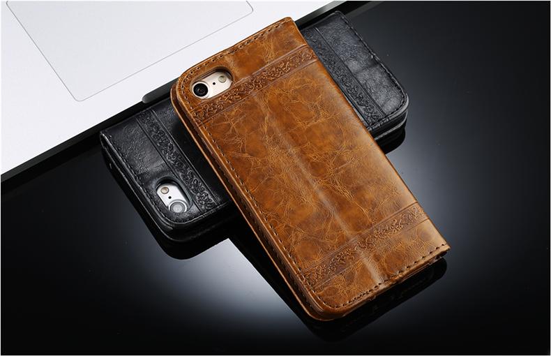 Skórzane etui z klapką telefon case for iphone 7 plus 6 s plus 5S 4S samsung galaxy S3 S4 S5 S6 S7 S8 Krawędzi Plus Uwaga 3 4 5 Karty Telefon torby 2