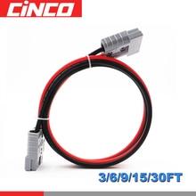 Connecteur 50A 600V cc 10/5/3/2/1m   Câble solaire, connexion de panneau solaire et de batterie portable pour chargeur solaire pliable