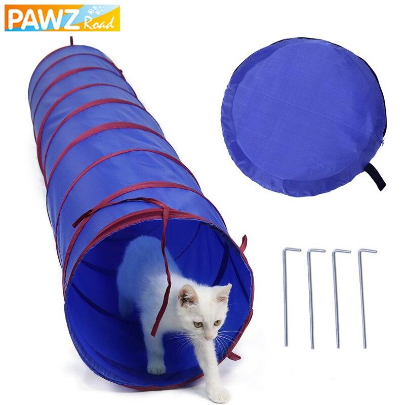 2 m diâmetro 30 cm pet cat túneis brinquedos para gatos pequenos cães dobrável engraçado gato túneis brinquedos tubos de passagem gatinho filhote de cachorro ao ar livre