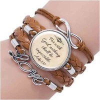 newest fashion jesus jewelry christian bracelet faith with god nothing is impossible quote jewelry glass saying bracelet